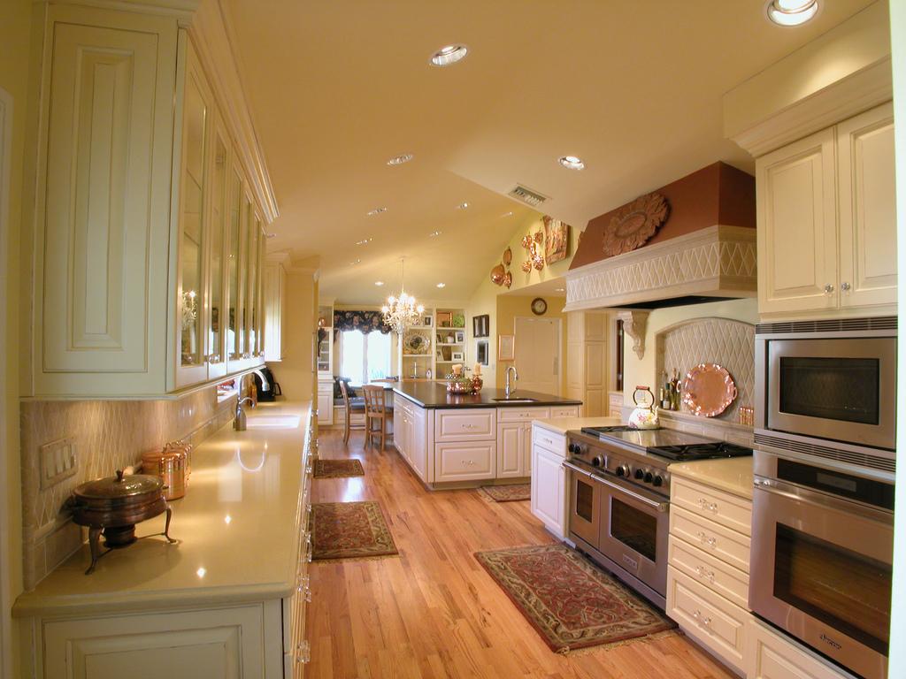 Kuchnia retro – bardzo duża przestrzeń zabudowy